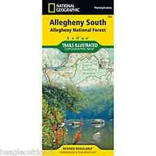 National Geographic PA Allegheny South National Forest Trail Illustrated Map 739