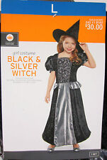 Black & Silver Witch Costume - Girls Large (10-12) - New with Tags