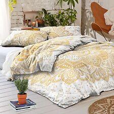 Indian Gold Ombre Mandala Duvet Cover Comforter Doona Queen Bohemian Bedding