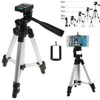 Professional Camera Tripod + Phone Clip Holder for Smart Phone iPhone Samsung