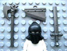 Custom EXECUTIONER Accessory PACK for Lego Minifigures Axe Black Hood Guillotine