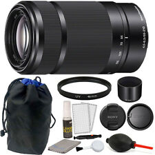 Sony 55-210mm F4.5-6.3 OSS E-Mount Telephoto Lens Black) + 49mm UV Filter+ More