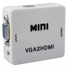 VGA to HDMI Converter HD Box with Audio for PC Laptop PS3 Projector