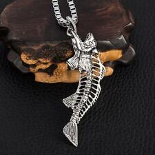 Cool Men's LF Stainless Steel Devil Fish Skull Pendant Necklace 22""