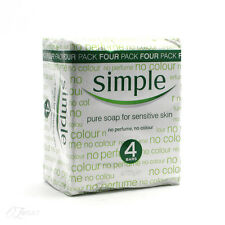 New pour Simple pur savon For sensative peau 125g lot de 4