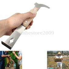 Wooden Handle Bee Hive Scraper Stainless Steel Beekeeping Tool Equipment HK