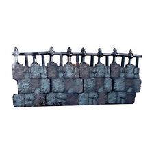"Iron Work Fence 41"" Long Plastic Graveyard Decoration Kit Halloween Prop 59041"