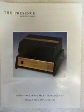 WOLCOTT AUDIO- The Presence Model P220M Monoblock Tube Amplifier - 2 BROCHUREs