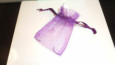 **NEW** ORGANZA BAGS SMALL LARGE - PACK OF 12 - WEDDING FAVOUR WHITE PINK BLACK