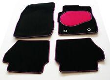 Perfect Fit Car Mats for Toyota Supra Mk3 86-92 - Pink & Black Trim & Heel Pad