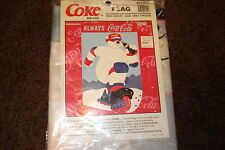 COCA-COLA1998 POLAR BEAR ROLLER BLADING FLAG/PENNANT, NEW