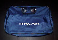 VINTAGE PAN AM AIRLINES CARRY ON FLIGHT TRAVEL BRIEFCASE BAG