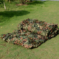 2M X 3M Military Camouflage Net Woodlands Leaves Camo Cover for Camping Hunting