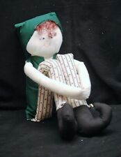 NEW Hand Crafted Christmas Elf Stuffed Toy Doll w Bells Shelf Sitting Handmade g
