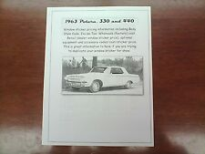 1963 Dodge Polara,330,440 factory cost/dealer sticker pricing for car + options