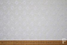FLORAL LACE FABRIC - 100% POLYESTER - WIDTH 112 CMS