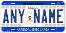 For Rent Mexico Arrendamiento Carga Any Name Novelty Auto Car License Plate