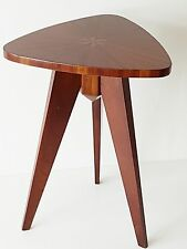 TABLE BASSE D'APPPOINT GUERIDON ACAJOU MARQUETERIE 1950 VINTAGE 50S TABLE