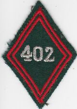 Losange mle 1945 Sous Officier  :   402eme  BS couleurs du Train
