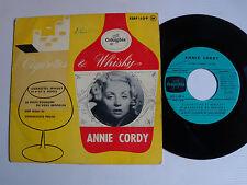 """ANNIE CORDY: Cigarettes, whisky et p'tit's pépées 7"""" EP 1956 COLUMBIA ESRF 1109"""