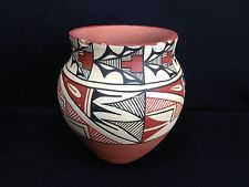 "Lovely Acoma Style Pot Jemez Pueblo, New Mexico Signed By MC TOSA 6.5"" X 6"""