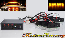 12V 18 Amber LED Emergency Hazard Flasher Warning Strobe Dash/Grille/Bar Lamps