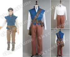 Disney Tangled Prince Flynn Rider Eugene Fitzherbert Outfit Cosplay Costume