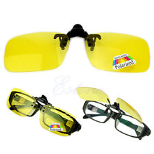 Polarized Day Night Vision Flip-up Clip-on Lens Driving Glasses Sunglasses