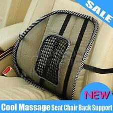 Mesh Lumbar Back Brace Support Office Home Car Seat Chair Cushion Massage US NEW
