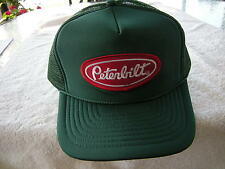 PETERBILT  TRUCKS  HAT WITH EMBROIDERY PATCH  , ADJUSTEABLE SIZEING, GREEN