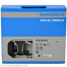 NEW 2016 Shimano PD-R540 SPD-SL Aluminum Road Pedals & Floating Cleats: SILVER