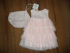 DESIGNER EMILE ET ROSE BABY GIRL PINK COTTON TULLE PARTY DRESS AGE 3 MTHS BNWT