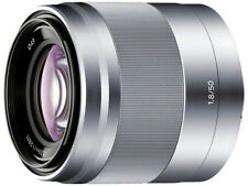 SONY SEL50F18 E 50mm F1.8 OSS SILVER E-MOUNT CAMERA LENS JAPAN DOMESTIC JDM