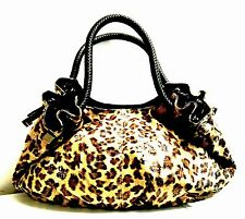 Lee Sands Leopard Print Oversized Hobo Bag