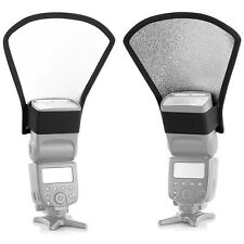 Blitz Diffusor Weiß/Silber Reflektor für Aufsteckblitz Canon Nikon