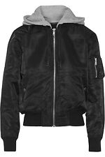 R13 CROPPED SHELL HOODED BOMBER JACKET SIZE M