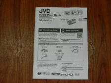Manual User Guide for JVC GZ-HM40 Digital Video Camera Camcorder LYT2477-001A