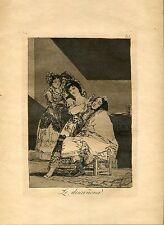 GOYA «Le descañona» Grabado (etching, engraving) orig nº 35 Caprichos (Caprices)