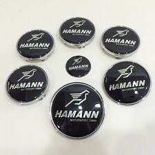7pcs Set Hamann Sticker Steering Emblem Badge Wheel Center Trunk Hub Cap for BMW