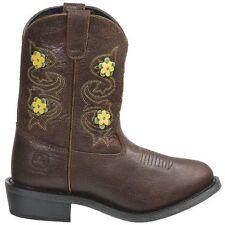 John Deere Footwear Johnny Popper Flower Accent Cowboy Boots - Youth 5.5 M - New