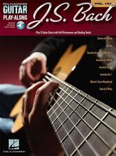 Guitar Play-Along JS Bach Learn Classical Tunes Themes MUSIC BOOK ONLINE AUDIO