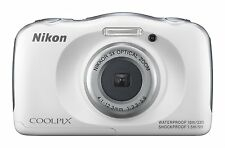 Nikon COOLPIX S33 Waterproof 13.2MP 1080p Digital Camera (White)