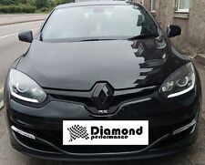 Renault Megane 3, facelift 2013+  GLOSS BLACK FRONT & REAR BADGE EMBLEM COVERS