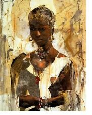 """African American Black Art Print """"TRANQUILITY (LARGE)"""" by Marta Gottfried"""