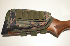 Buttstock Shotgun Rifle shell holder Cheek Rest Pouch - Marine Camo Marpat
