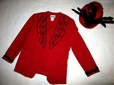 CIRCUS ringmaster red jacket halloween COSTUME size 12  cosplay fantasy hat