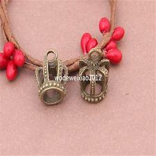 10pc Antique Bronze Charms crown Pendant Accessories Bead wholesale PL380