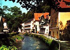 Berneck im Fichtelgebirge , Partie an der Oeschnitz  , Ansichtskarte ,ungelaufen