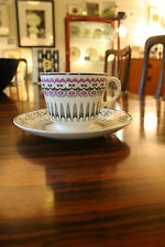 VINTAGE EDWARD BAWDEN bone china TEACUP AND SAUCER FOR WEDGWOOD ship boat