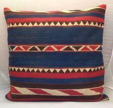 """Handmade Kilim Cushion Cover Throw Pillow Case Bohemian Boho 24x24"""" (60x60cm)"""